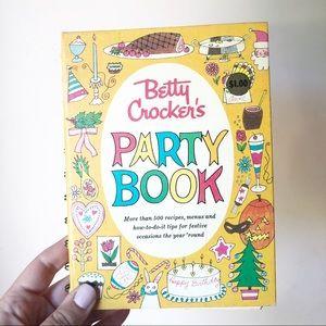 Vintage Betty Crocker Party Book Cook Book